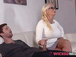big blonde daughter hairy handjob hardcore