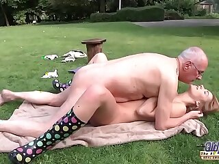blowjob cumshot deepthroat doggystyle grandpa hardcore