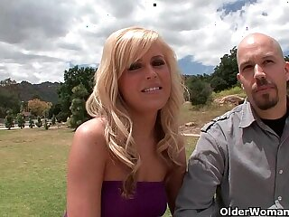 blonde blowjob cougar cuckold facial hardcore