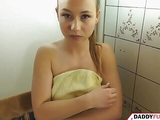 blowjob brunette cute daddy daughter family