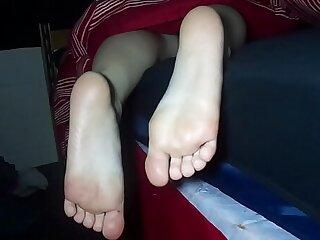 bukkake cumshot foot sleeping