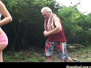 babe blowjob grandpa old old and young oral sex