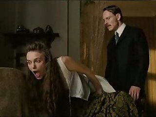 bdsm british brunette mature spanking tits
