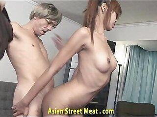 asian blowjob bondage cumshot facial girlfriend