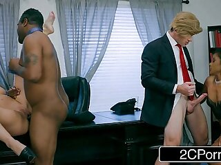 big black blonde blowjob boobs foursome