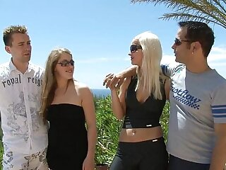 anal blowjob cumshot doggystyle fingering group sex
