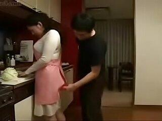 asian family japanese kitchen milf son