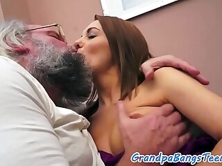 amateur babe creampie european grandpa old
