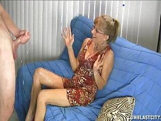 big cfnm cumshot dick granny handjob