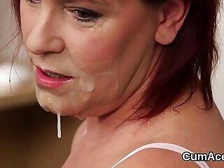 blowjob bukkake cumshot facial jizz swallow