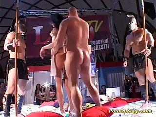 anal gangbang orgy public reality