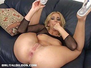 anal ass blonde brutal dildo gaping