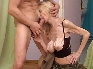 boobs deepthroat granny