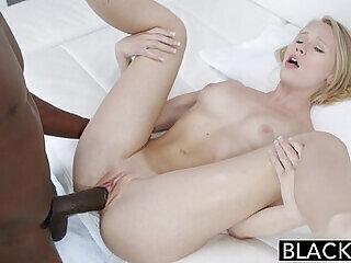 big big cock black blonde blowjob creampie