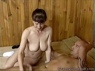 anal blowjob brunette granny mature milf