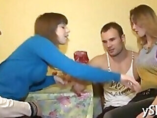 foursome russian teen