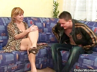 cumshot granny high definition mother old old and young