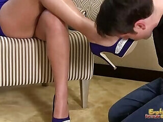 bdsm foot licking mistress slave