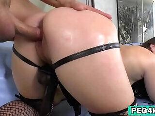 anal ass brunette fucking girls lingerie