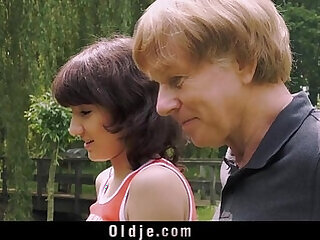 blowjob girls grandpa old old and young swallow