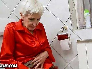 ass blowjob cumshot fingering granny hairy
