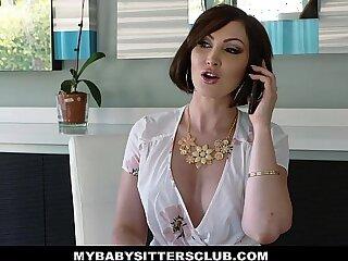 babysitter bedroom big boss brunette cumshot