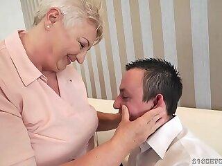 ass bbw blonde blowjob chubby granny